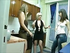 Amateur Italian Lesbian Old and Young Threesome