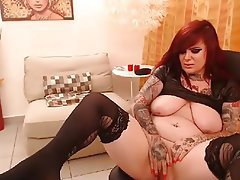 Amateur Redhead Tattoo Webcam