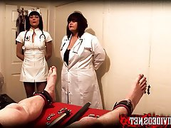 BDSM Double Penetration Medical Mistress Strapon