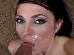 Brunette Cumshot Facial