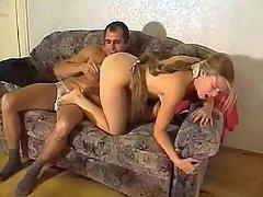Amateur Blonde Dildo Fucking Girlfriend
