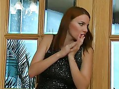 BDSM Femdom Redhead Russian Strapon